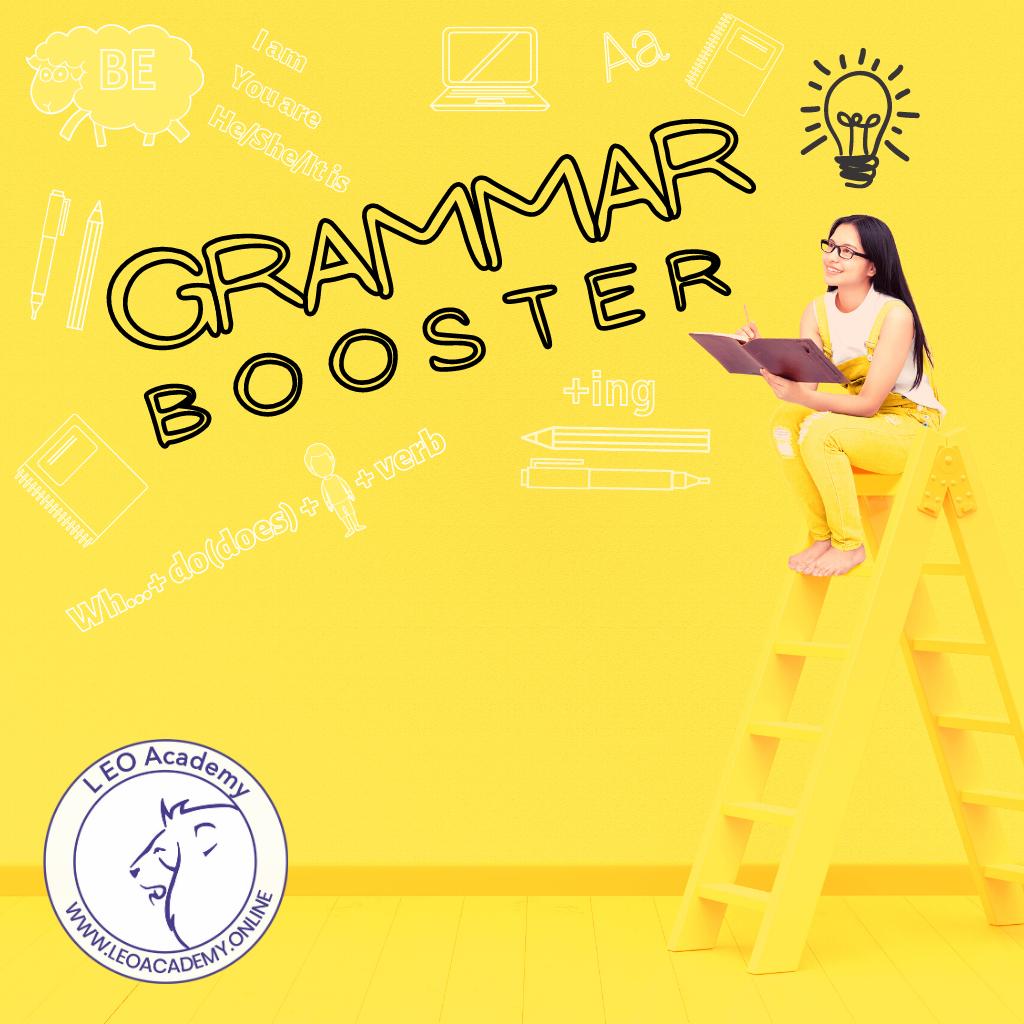 Grammar Booster- intensywna powtórka wszystkich czasów angielskich w zakresie polskiej szkoły podstawowej