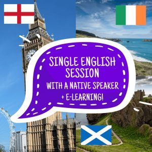 A single English lesson with a native speaker + e-learning!