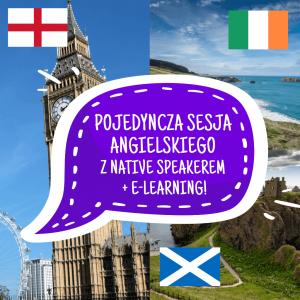 Pojedyncza lekcja angielskiego z native speakerem + e-learning!